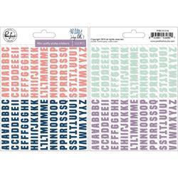 "Indigo Hills 2 Puffy Mini Alpha Stickers 5""X7"""