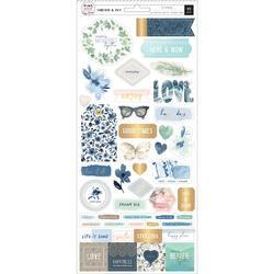 "Indigo & Ivy Cardstock Stickers Accents & Phrases W/Gold Foil Accents 5.5""X12"" 2/Pkg - 1"