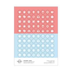 Jednorožec Papírové samolepky - ikonky