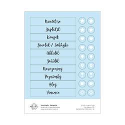 Jednorožci Papírové samolepky - kategorie (modrá)