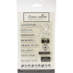 Jetsetter Adventure Clear Stamp Set - 1