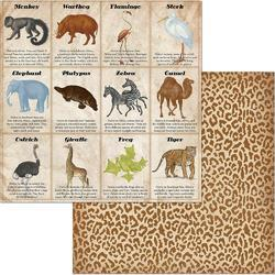 "Jungle Life Double-Sided Cardstock Animals 12""X12"""
