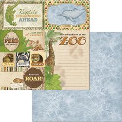 """Jungle Life Double-Sided Cardstock Beautiful Beasts 12""""X12"""""""