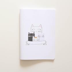Tečkovaný sešit A5 – Kočky - 1