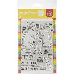 """Love You Bunnies Clear Stamps 4""""X6"""" - 1"""