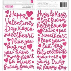 "Loves Me Thickers Stickers 5.5""X11"" 85/Pkg"