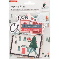 Merry Days Ephemera Cardstock Die-Cuts 40/Pkg - 1