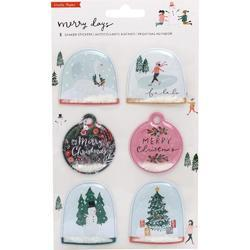 Merry Days Shaker Stickers 6/Pkg