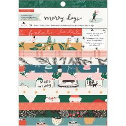 """Merry Days Single-Sided Card Making Pad 6""""X8"""" 24/Pkg"""