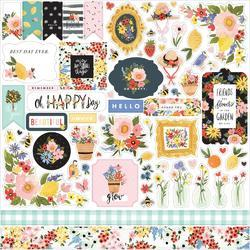"Oh Happy Day Spring Cardstock Stickers Elements 12""X12"""