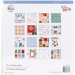 """Oh What Fun Double-Sided Paper Pack 12""""X12"""" 16/Pkg - 1"""