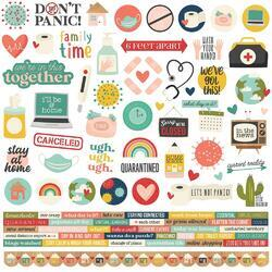 "Quarantined Cardstock Stickers 12""X12"""