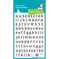 "Riley's ABCs Clear Stamps 4""X6"""