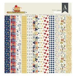 """Scholastic Double-Sided Cardstock Pad 12""""X12"""" 18/Pkg"""
