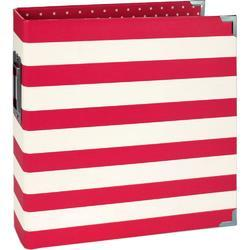 "Sn@p! Red Stripe Designer Binder 6""x8"""