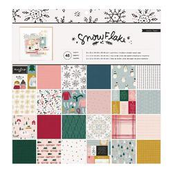 "Snowflake Crate Paper Single-Sided Paper Pad 12""X12"" 48/Pkg - 1"