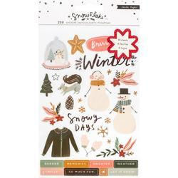 Snowflake Sticker Book 250/Pkg - 1
