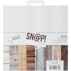 """Sn@p! Color Vibe Basics Wood & Notebook Double-Sided Paper Pad 6""""X6"""" 24/Pkg"""