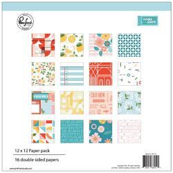 "Some Days Double-Sided Paper Pack 12""X12"" 16/Pkg"