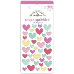 Sprinkles With All My Heart Adhesive Enamel Shapes