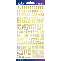 Sticko Alphabet Stickers Gold Marker Small