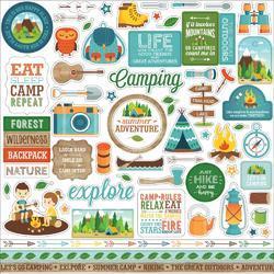 """Summer Adventure Cardstock Stickers 12""""X12"""""""