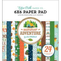 "Summer Adventure Double-Sided Paper Pad 6""X6"" 24/Pkg"