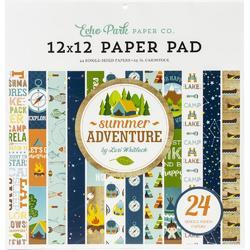 "Summer Adventure Single-Sided Paper Pad 12""X12"" - 1"