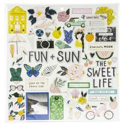 Sunny Days Chipboard Stickers 51/Pkg - 1