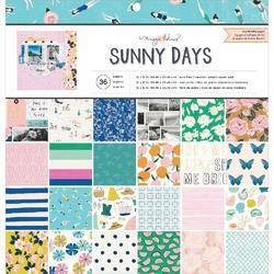"Sunny Days Single-Sided Paper Pad 12""X12"" 36/Pkg - 1"