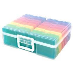 """We R Craft & Photo Translucent Plastic Storage 15""""X12""""X5"""", w/16 Mini Cases - 1"""