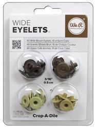 We R Eyelets Wide 40/Pkg Brown - 1