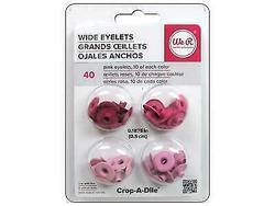 We R Eyelets Wide 40/Pkg Pink - 1
