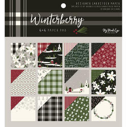 "Winterberry Double-Sided Paper Pad 6""X6"" 24/Pkg"