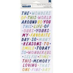 Wonders Happy Day Phrases Thickers Stickers 329/Pkg - 1