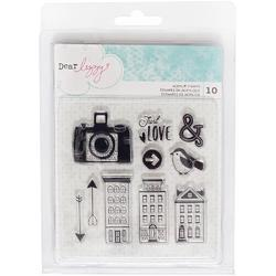 Saturday Acrylic Stamps 10/Pkg