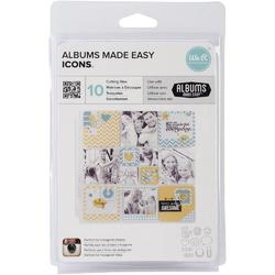 Albums Made Easy Icons Dies 10pkg - 1