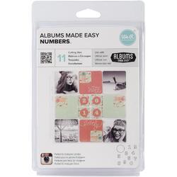 Albums Made Easy Numbers Dies 11pkg - 1
