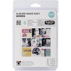 Albums Made Easy Words Dies 6pkg - 1