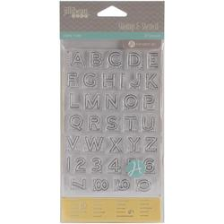 Alpha Ruler Stamp & Stencil Set 4'x6' - 1