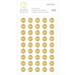 Amelia Gold Numbers Foil Stickers - 1