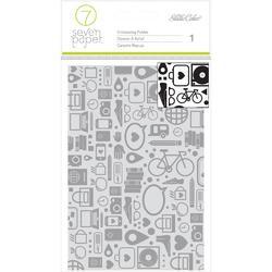 """Amelia Shapes & Icons Background  Embossing Folder 4""""x6"""""""