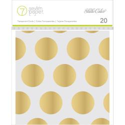 "Amelia Transparent w/Gold Foil Cards 4""x4"" 20pkg - 1"