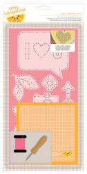 Cut & Paste - Embroidery Stencil Kit - Alpha Hello - Amy Tan