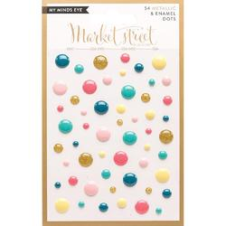 Ashbury Heights Market Street Adhesive Metallic & Enamel Dots 54pkg