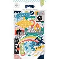 Atlas Chipboard Stickers 3 Sheets - 1