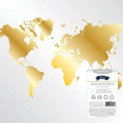 Atlas Worldwide Gold Foiled Acetate 12x12 - 1