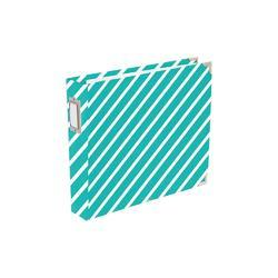 "Awesome Diagonal Stripes Designer D-Ring Album 12""X12"" - 1"