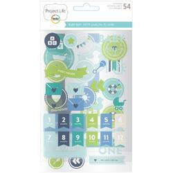 Baby Boy Project Life Chipboard Stickers - 1