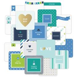 Baby Boy Project Life Die-Cut Card Pack 4x4 12 pkg
